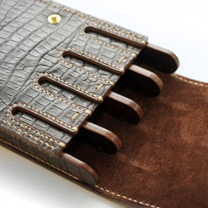 pen case(crocodile pattern cowhide)